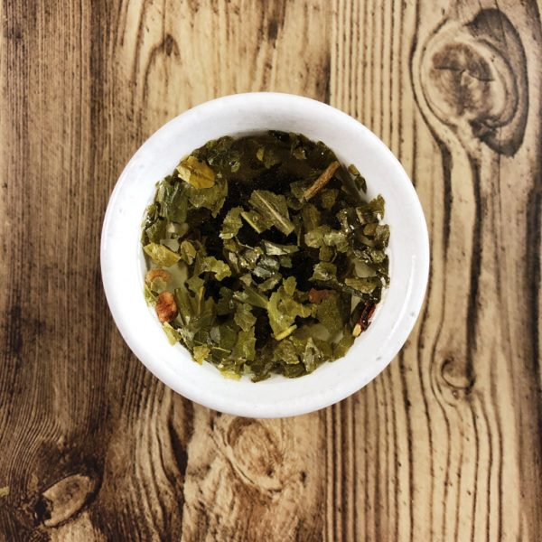 Faerie Garden green tea steeped in a teacup